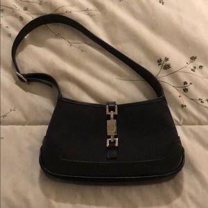 Gucci black gg guccisimo mini bag